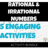 Rational and Irrational Numbers Activity Bundle for Middle School Math