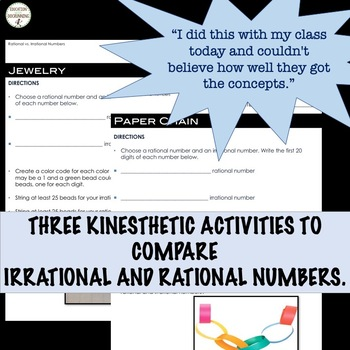 Rational and Irrational Numbers Activities Bundle for Middle School Math