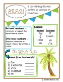 Rational & Irrational Number Notebook Page