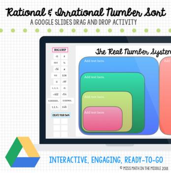 Rational & Irrational Number Sort Google Slides Interactive Digital Activity