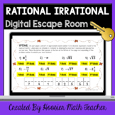 Rational Irrational Numbers Unit Review Digital Escape Room