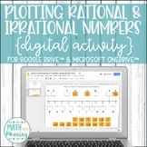 Rational & Irrational Numbers on a Number Line DIGITAL Activity Drive & OneDrive