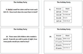 Rational #: Multplying/Dividing Fractions, Decimals, Percents Holiday MAD LIBS!