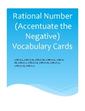 Rational Number (Accentuate the Negative) Vocabulary Cards