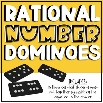 Rational Number Activity - Dominoes