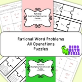 Rational Number All Operations Word Problems Puzzle