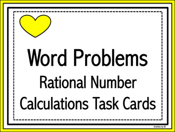 Rational Number Calculations Word Problems