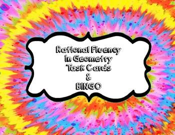 Rational Number Fluency in Geometry Task Cards & BINGO