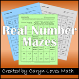 Rational Number Maze-Irrational-Integers-Naturals- Worksheets-Review-Real