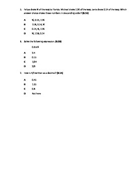 Rational Number Mixed Review