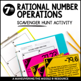 Rational Number Operations: Scavenger Hunts