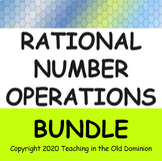 Rational Number Operations BUNDLE with Google Apps for Dis