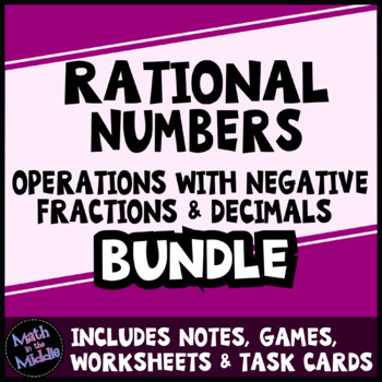 Rational Number Operations Bundle - Positive & Negative Fractions