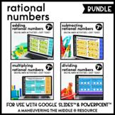 Rational Number Operations Digital Math Activity Bundle |