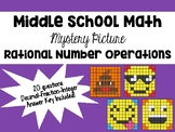 Rational Number Operations - Mystery Color by Code Activity