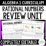 Rational Number Operations Review Unit - Algebra 1