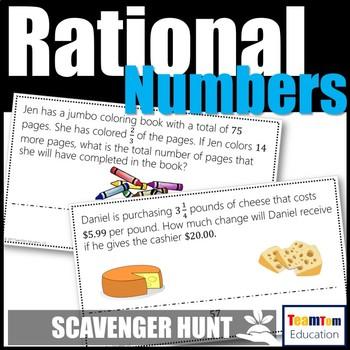 Rational Number Operations Scavenger Hunt