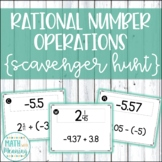 Rational Number Operations Scavenger Hunt - CCSS 7.NS.A.3 Aligned