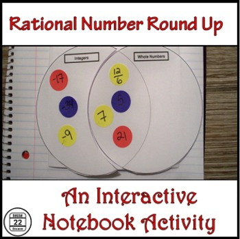 Rational Numbers Venn Diagram Activity and Rational Numbers Task Cards