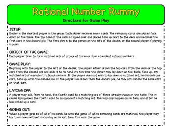 Rational Number Rummy