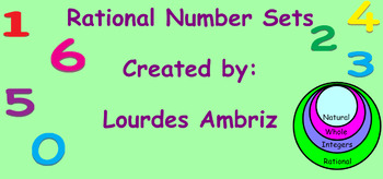 Rational Number Sets Interactive Notebook Lesson