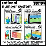 Rational Number System Digital Math Activity Bundle | 6th