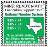 Rational Numbers System Unit TEKS 7.2A 7.3A 7.3B