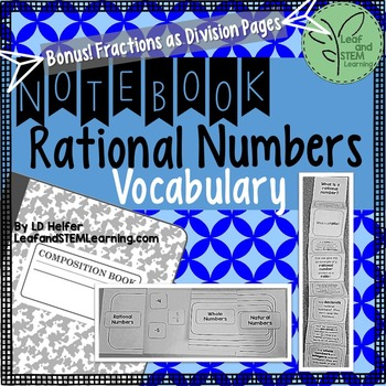 Rational Number Vocabulary Interactive Notebook