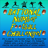 Rational Number Word Problem Football Challenge