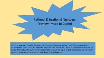 Printable Cut & Paste Rational Numbers Activity or Worksheet