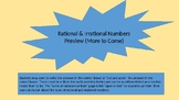 Printable Cut & Paste Rational Numbers Activity or Worksheet