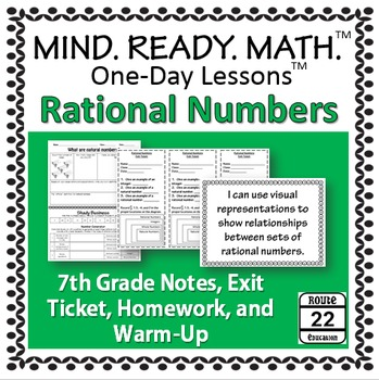 Rational Numbers Notes for 7th Grade Math