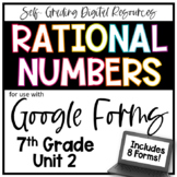 Rational Numbers- 7th Grade Math Digital Bundle for Google Forms