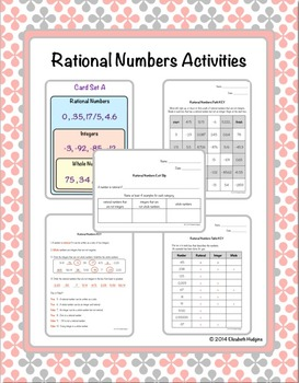 Rational Numbers Activities