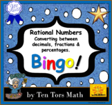 Rational Numbers Activity - Converting between decimals, fractions & percentages