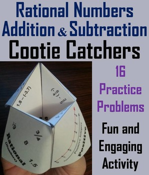 Rational Numbers Operations Activity: Addition and Subtraction