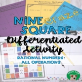 Rational Numbers All Operations Nine Square Craze