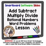 Rational Numbers Add Subtract Multiply Divide Word Problems Smartboard