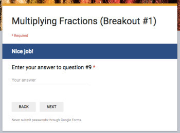 Rational Numbers –  Breakout Bundle with Google Forms!