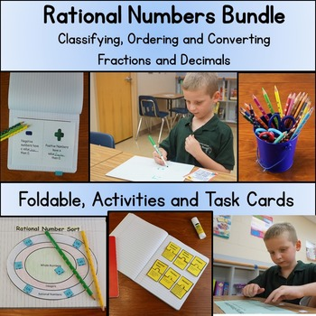 Rational Numbers; Bundle Classify, and Convert Fractions a