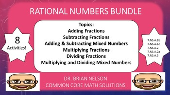 Rational Numbers Bundle (PowerPoint Lessons with Printables)