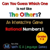 Rational Numbers - Can you guess which one? Game I