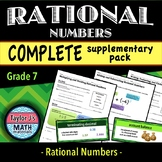 Rational Numbers - Complete Supplementary Pack & Word Wall