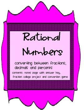 Rational Numbers: Conversions between Fraction/Decimal/Percent