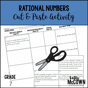 Rational Numbers Cut & Paste Activity