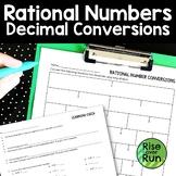Rational Numbers Decimal Conversions