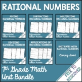 Rational Numbers Differentiated Notes and Practice Bundle