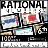Rational Numbers Digital Task Cards | TEKS 6.2 | Boom Cards