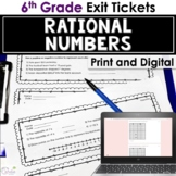 Rational Numbers Exit Tickets