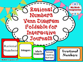 Rational Numbers Foldable - Integers, Whole Numbers, Natural Counting Numbers